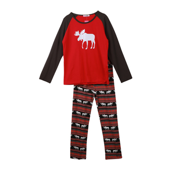 Family Pajamas Set Moose Adult Women Kids New 2017 Christmas Deer Nightwear Pyjamas