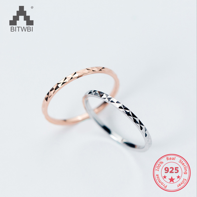 100% 925 Sterling Silver Simple Couple Rings Solid Wedding Band Rings  Fashion Jewelry For Women Men 4f3e6725b