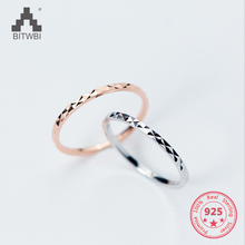 100% Real Pure 925 Sterling Silver Simple Couple Rings Solid Wedding Band Rings Fashion Jewelry For Women Men Ring Holiday Gift