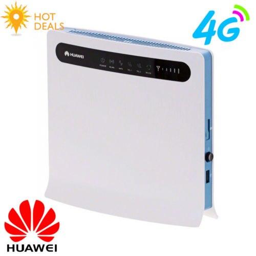 (+2pcs Antenna) Original-Unlocked-Huawei-B593u-12-FDD-4G-LTE-WiFi-Router-with-4-LAN-Port-100Mbps
