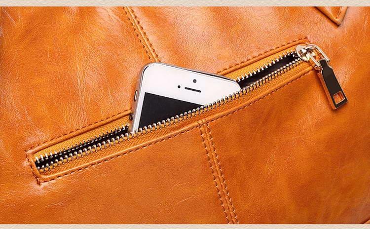 Women Oil Wax Leather Designer Handbags High Quality Shoulder Bags Ladies Handbags Fashion brand PU leather women bags WLHB1398 22
