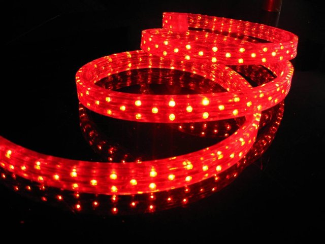 100m/roll LED 4 wires flat rope light;36leds/m;size:11mm*22mm;DC12V/24V/AC110/220V are optional;red color