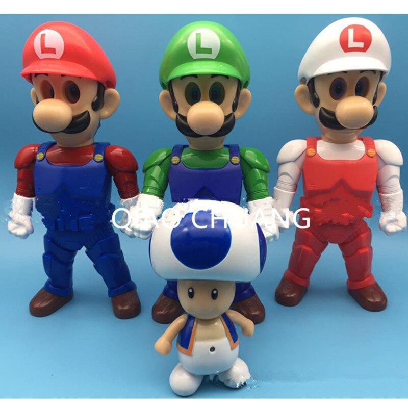 4Pcs/set Japanese Game <font><b>Anime</b></font> <font><b>Super</b></font> <font><b>Mario</b></font> Jumpman <font><b>Mario</b></font> Bros Luigi <font><b>Cute</b></font> Kinopio <font><b>PVC</b></font> <font><b>Action</b></font> <font><b>Figure</b></font> Model Decoration <font><b>Dolls</b></font> G546