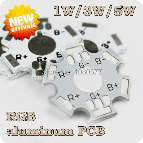 50pcs 1W 3W RGB Aluminum Base Plate, 20mm High Power LED PCB Board Lamp Plate, Free Shipping