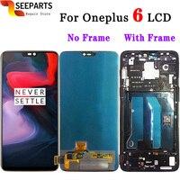 Оригинальный протестированный Oneplus 6 ЖК дисплей сенсорный экран панель дигитайзер сборка Замена ЖК экран Oneplus 6 lcd мобильный телефон