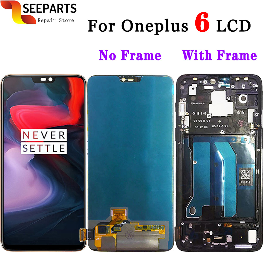 Original Tested Oneplus 6 LCD Display Touch Screen Panel Digitizer Assembly Replacement LCD Screen Oneplus 6 LCD Mobile Phone-in Mobile Phone LCD Screens from Cellphones & Telecommunications    1