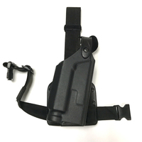 Colt 1911 Right Hand Gun Holster BK Tactical Colt Holster with Flashlight Leg Loop Gun Leg Holster Hand Gun Accessories