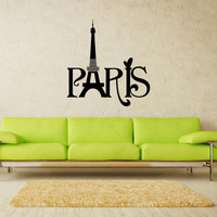 9149 Paris Franch France Bedroom Decorative Wall Stickers Vinyl Stickers Home Decor Free Shipping