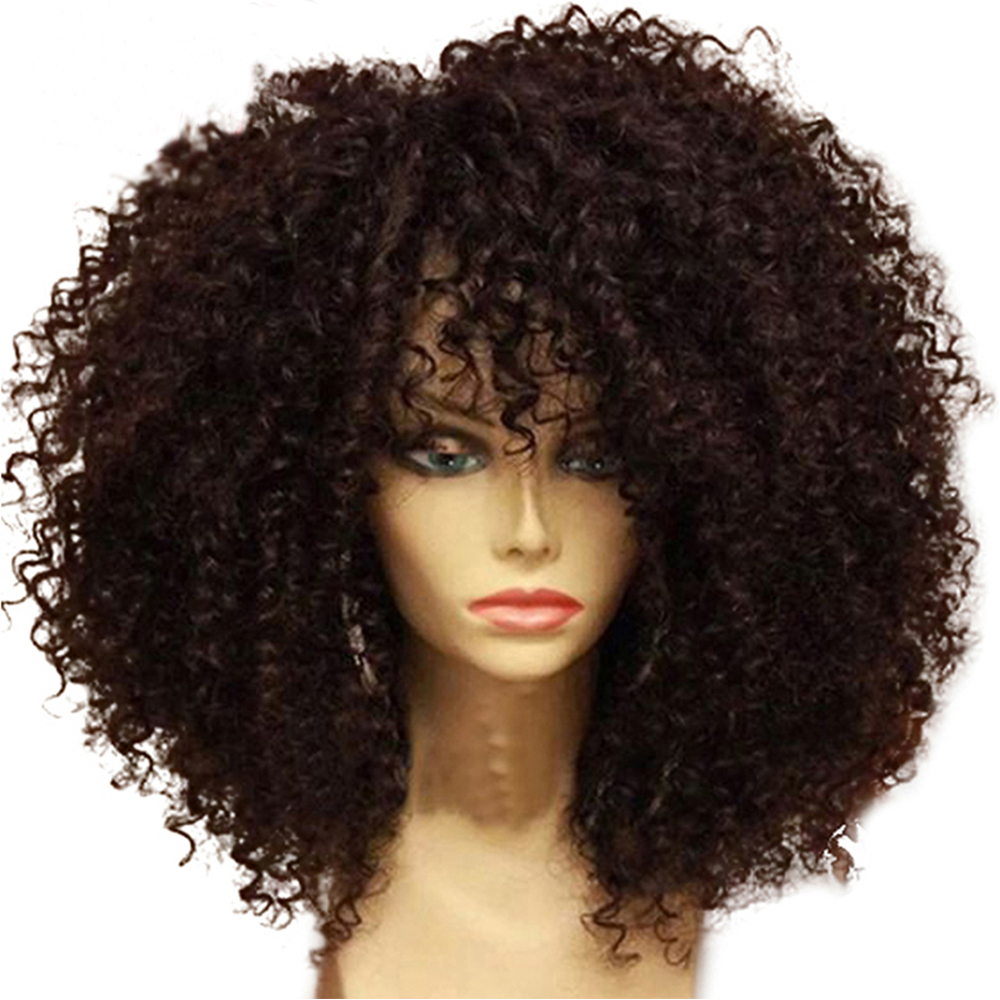 Eversilky 250 Density Kinky Curly Human Hair Wigs With Baby Hair Pre Plucked Brazilian Remy 13x4 Lace Front Wig Natural Hairline