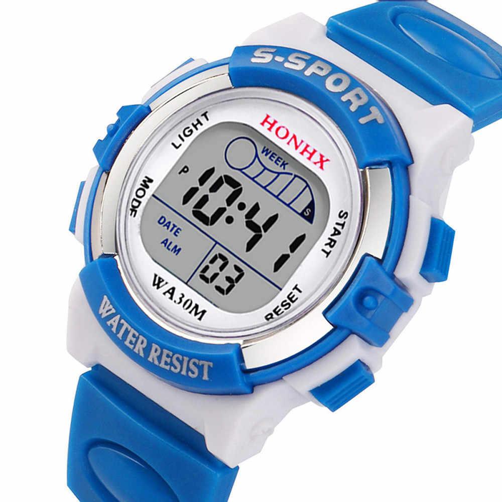 #5001 Водонепроницаемый для мальчиков цифровые светодиодные спортивные часы дети сигнализации Дата подарочные часы Reloj Для детей Новое поступление Бесплатная доставка Лидер продаж