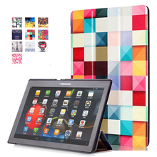 For Lenovo TAB 3 10 business TB3-X70F/M Ultra Slim Magnetic Tri-Fold Smart Case Cover for Lenovo Tab 2 A10-70 TAB 2 A10-30 X30F