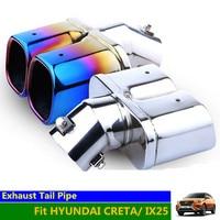CRETA Exhaust Muffler Pipe Tip Stainless Steel Square Car Rear Tail Muffler Car Rear Tail Muffler for HYUNDAI IX25 CRETA
