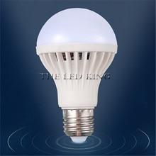 1 шт. лампа с датчиком движения PIR E27 Светодиодная лампа 5 Вт 7 Вт 9 Вт автоматическая умная Светодиодная лампа с датчиком движения