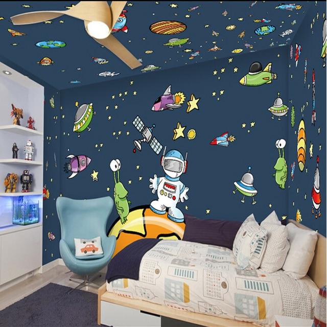 Cartoon wall painting in bedroom for Cartoon mural painting