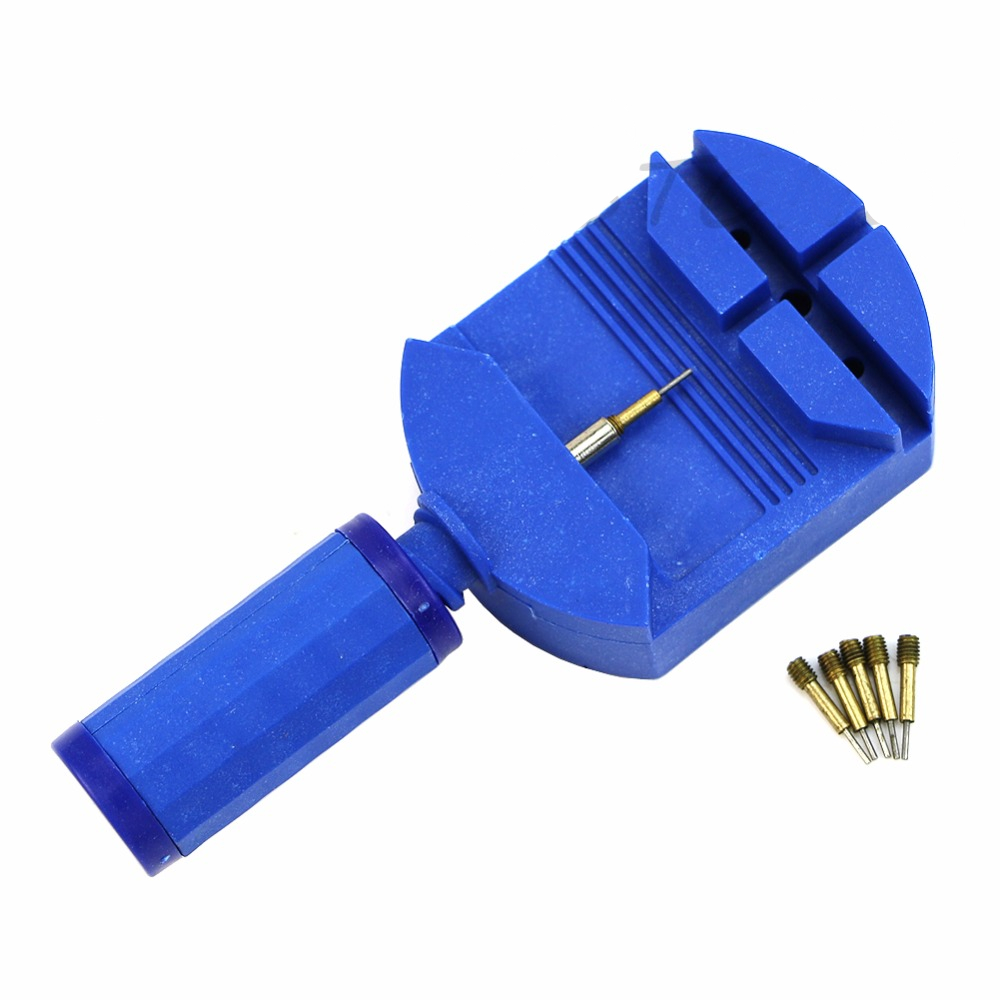 Watch Band Adjust Remover Repair Tool with 5 Spare Pins Professional Watch Repair tool Blue Black