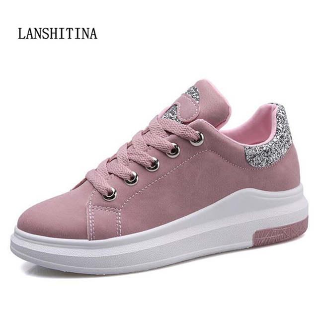 e1aba6dc3 placeholder Mulheres da moda Sapatos Casuais Mulheres Sapatos Tenis Feminino  Sapatos Plataforma Solas Confortáveis Para 2018 Durante