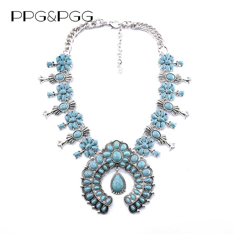 d3fffe39474b PPG y PGG joyería de moda mujer diseño Vintage diamantes de imitación  grandes colgantes cadena gruesa