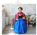 Retail 2015 nueva vestido de cosplay del vestido del traje, vestidos las muchachas con capa roja, niños bebé niño ropa de bebé