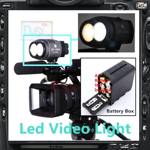 ZF2000 ZF-2000 Hot Shoe Led Video Light Lamp Lighting 2000LM 5600k 2x CREE XML U2 for Camera Camcorder DV DSLR PF019 sitemap 236 xml