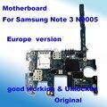 100% abierto original para samsung galaxy note 3 motherboard mainboard motherboard n9005 de la ue versión placa lógica con chips