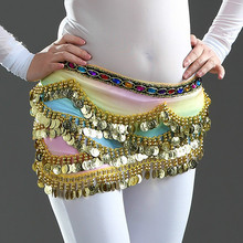 328 Coin Belly Dance Costume Waist Chain for Performance Multicolor Triangle Hip Scarf Wrap Skirt Indian Dance Belt 89