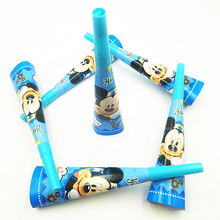 6pc/set Mickey Mouse Cartoon Party Supplies Baby Shower Decoration Theme Horn & Paper Trumpet Kids Birthday