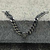 Bracelet à breloques Lion Animal Davieslee pour hommes chaîne gourmette acier inoxydable ton argent OT boucle ronde en forme de bijoux de mode LDB22