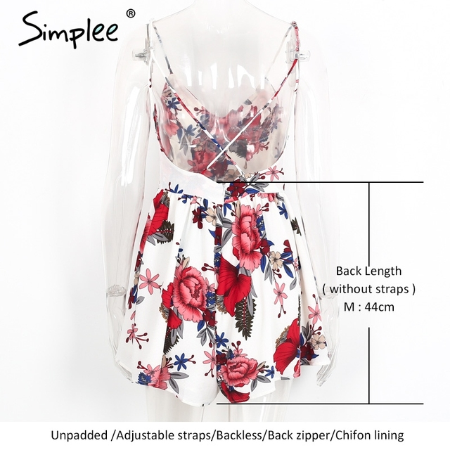 Simplee Summer beach boho floral print overalls