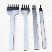 4 Шт. 4 мм Зубец Кожа Craft Инструменты Ручной Инструмент Пробойники Колющими Punch Tool Кожа Инструменты