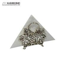 Gohide Europa Sitz Typ Fall Grape Dekorative Muster Handtuchhalter Silber Überzogene Senior Tissue Blöcke Serviette Papier