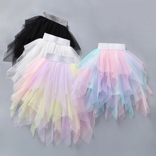 Babyinstar Summer Tutu Skirt Tulle Girl Irregular Design Baby Clothes Kids Cute Skirts