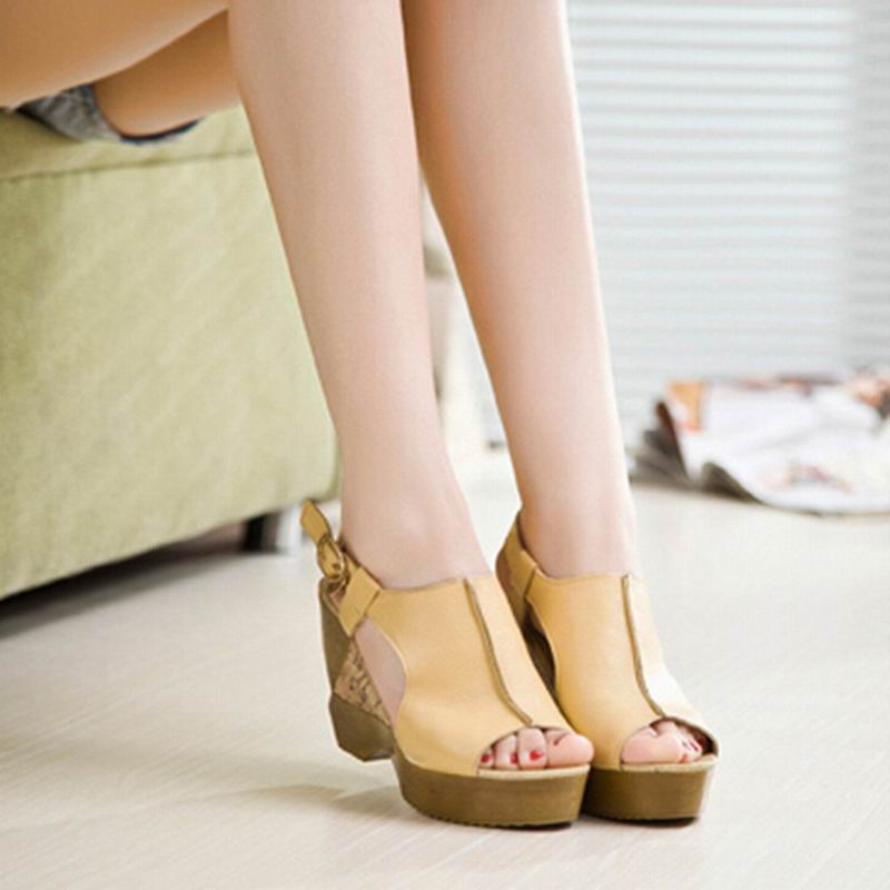 New Arrival 2017 Summer Women Wedge Sandals Gladiator Fashion Platforms Ultra High Heels Open Toe Shoes Women Pumps Slippers