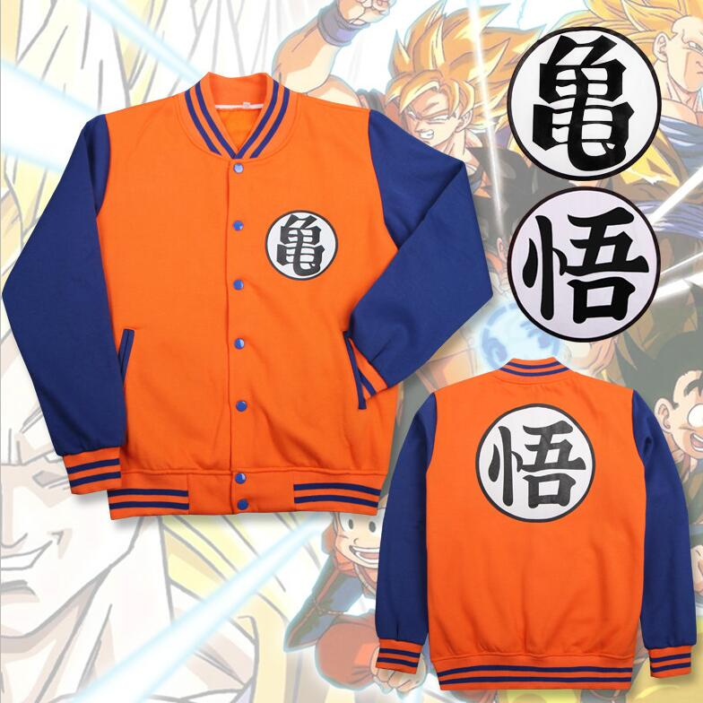 2Styles Dragon Ball Z Son Goku Kame Sennin Master Roshi Hoodie Cosplay Costume Baseball Uniform Daily Casual Jacket Sweatshirts