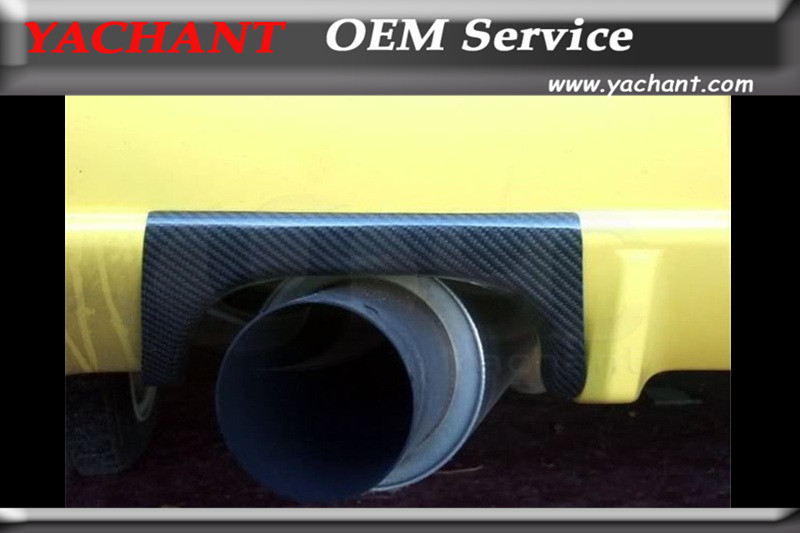 цены Car-Styling Carbon Fiber Exhaust Heatshield Fit For 1999-2002 Skyline R34 GTR Rear Bumper Exhaust Heatshield