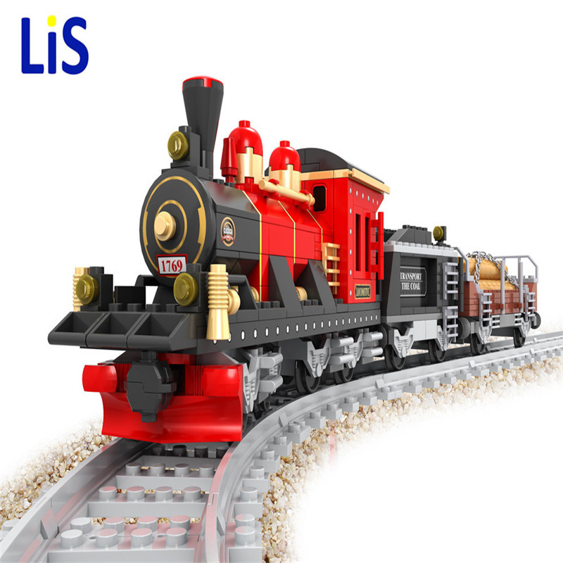 Lis Ausini 25705 Model building kits city train rail 009 3D blocks Educational model building toys hobbies for children школа 7 гномов первый год обучения день и ночь 0 1 год
