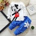 Mickey bebés meninas meninos define roupas Minnie miúdos dos desenhos animados de impressão de T + esporte calças fatos de treino Vetement Enfant Fille