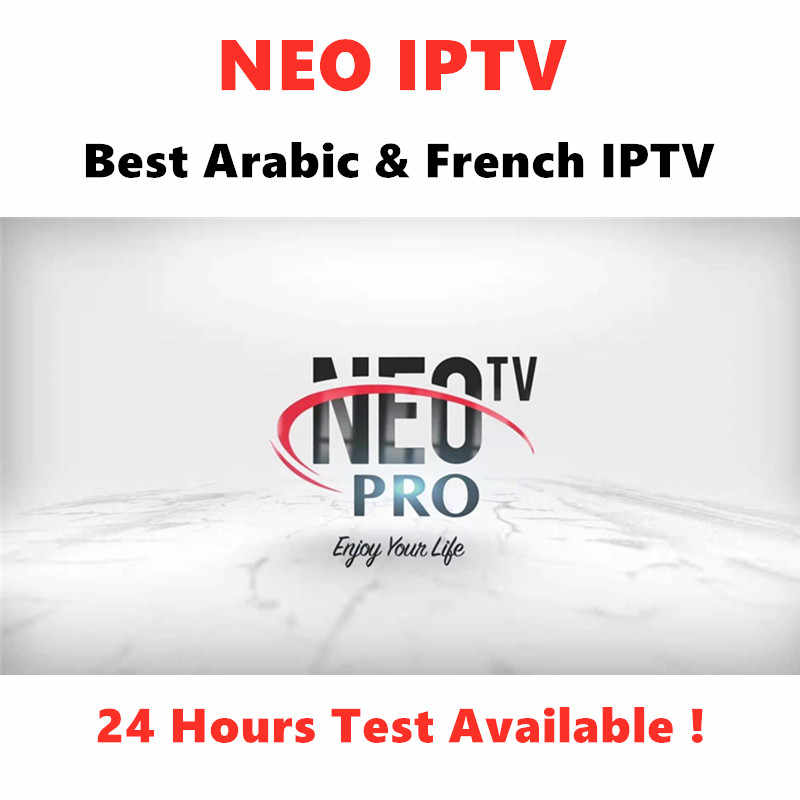NEO Pro IPTV Subscription Arabic French Europe IPTV Support M3U Andorid MAG Enigma2 Smart tv PC IOS 24 Hours Test