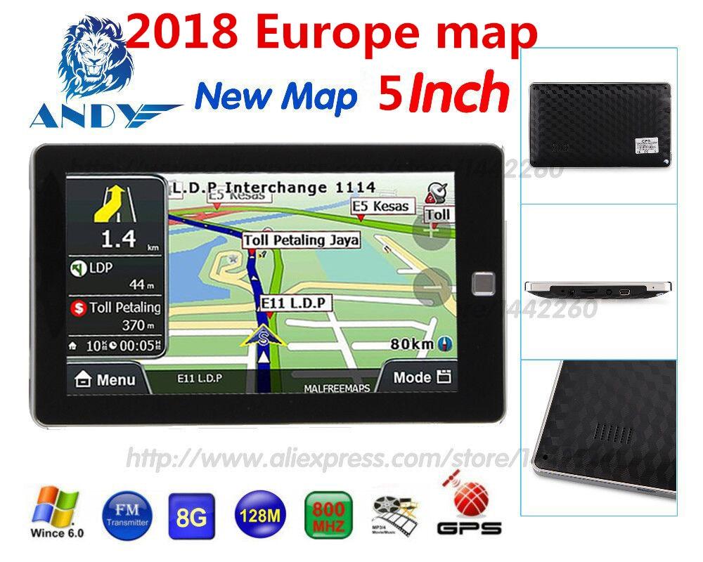 Oriana Navigazione Di Gps Dell'automobile 5 Pollice Touchscreen Navigatore 128 Mb 8 Gb Sat Nav Mp3 Fm Mappa Europa Russia Francia Bielorussia Ucraina Ecc Lussuoso Nel Design