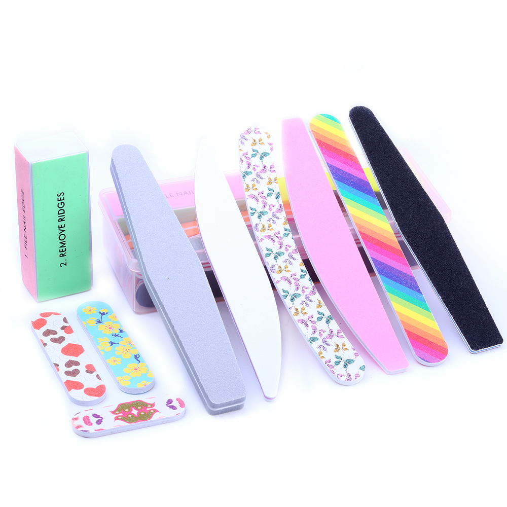 All Type Nail Files For Manicure Gel Nail File Lot 100/180 Professional Files Manicure Set Tools