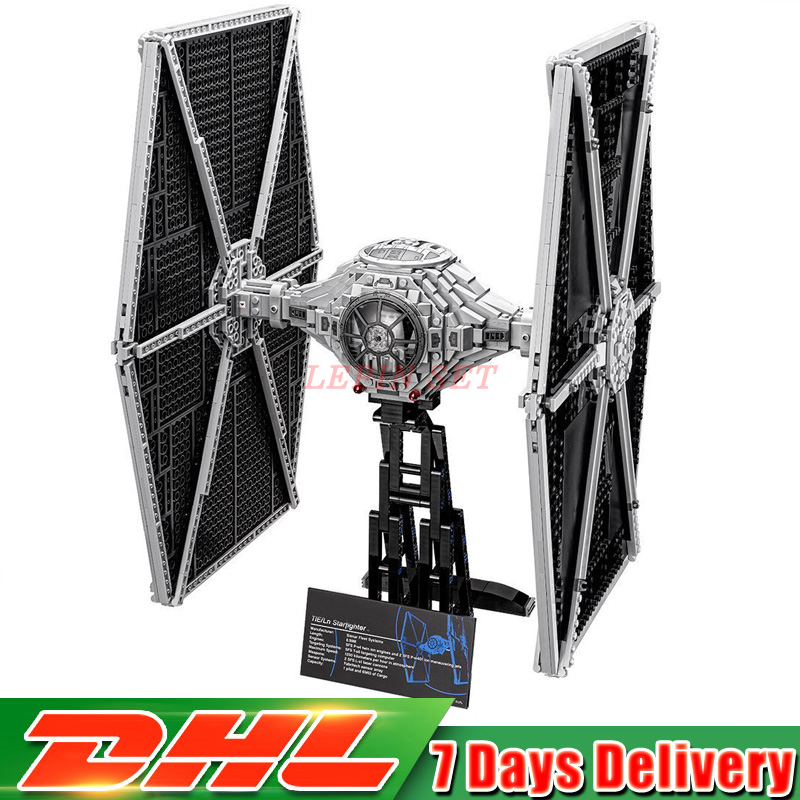 DHL IN STOCK 1685pcs Star 05036 Series Wars Tie Fighter Building Educational Blocks Bricks Toys Compatible 75095 Gifts Lepin dhl lepin 05055 star series military war the rogue one usc vader tie advanced fighter compatible 10175 building bricks block toy