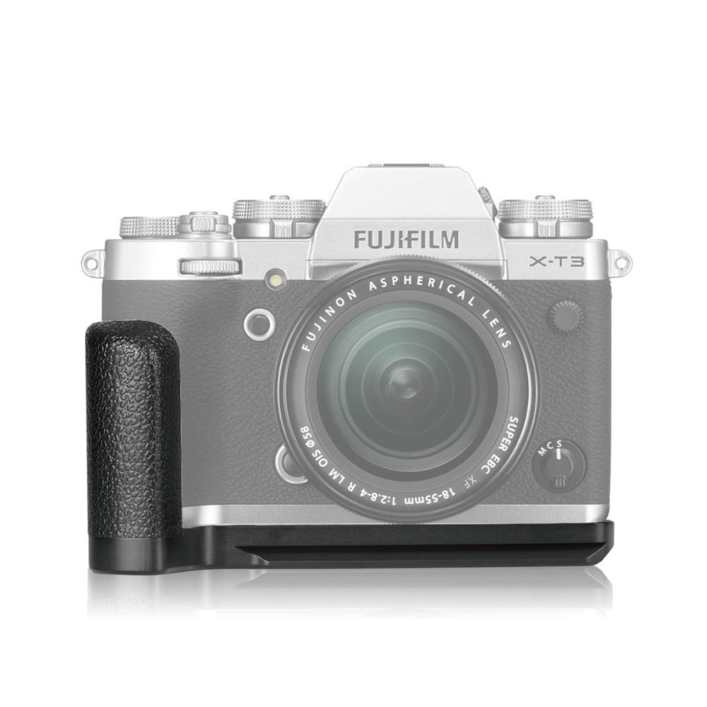 Meike MK XT3G Aluminum Alloy Hand Grip Quick Release Plate L Bracket for Fujifilm X T3