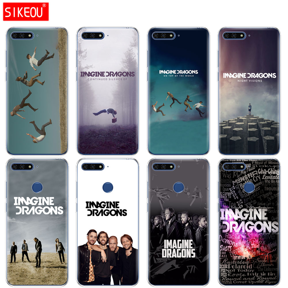 US $1 23 50% OFF|Silicone Cover Phone Case For Huawei Honor 7A PRO 7C Y5 Y6  Y7 Y9 2017 2018 Prime imagine dragons night music-in Fitted Cases from