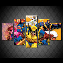5 Pcs/Set Framed HD Printed Anime Characters.Painting Canvas Print Room Decor Print Poster Picture Canvas Decorative Pictures