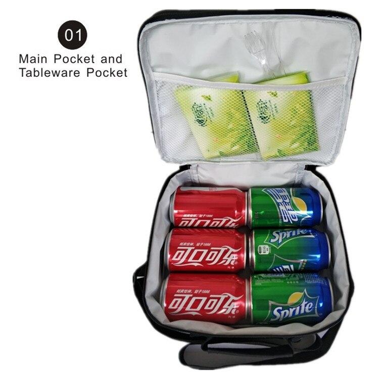 saco de isolamento estudantes escola caixa de armazenamento de alimentos
