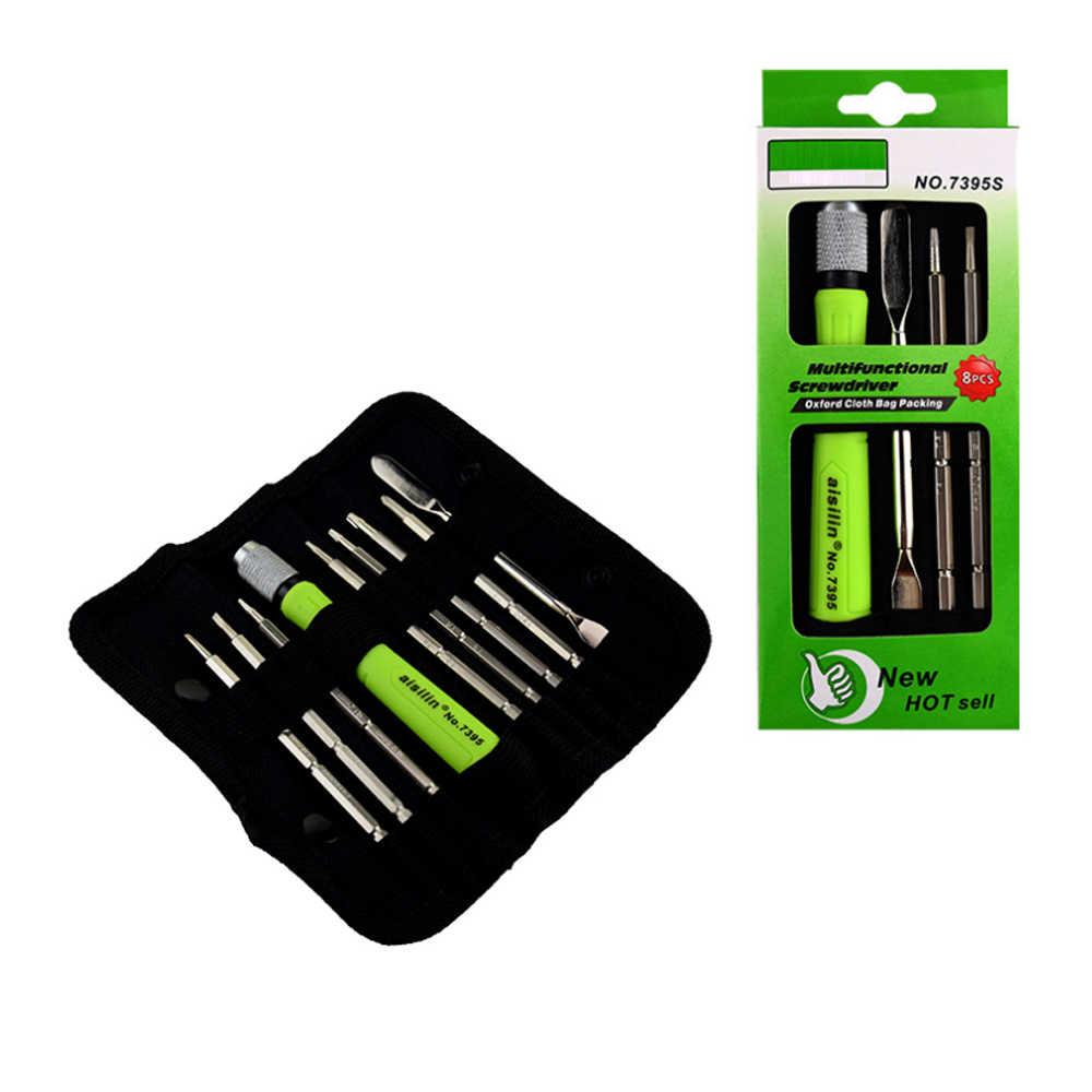 9Pcs Portable Electrician Magnetic Screwdriver Set Torx Screw Drivers Set for iPhone Smart Phone Tablet Laptop Hand Repair Kit