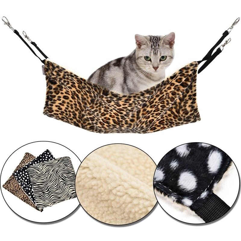 ᗗCama del gato del animal doméstico Jaulas dormir hamaca para gatos ...