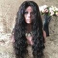 8A grado peruano de la Virgen pelucas llenas del cordón con rayita Natural del pelo del bebé Glueless peluca delantera del cordón de encargo