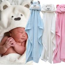 cute Animal shape baby hooded bathrobe bath towel baby fleece receiving blanket neonatal hold to be Children kids infant bathing