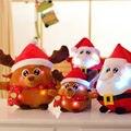 Papá Noel lindo Elk Forma Peluches de Navidad de Luz Led hasta los niños Juguetes para Niños de Peluche y Felpa Animales Cumpleaños regalo