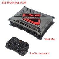 Khadas VIM2 Max Cortex A53 3 ГБ DDR4 eMMC 64 ГБ с открытым исходным кодом поддержка Linux Ubuntu mate одноплатный компьютер Abdroid tv Box + чехол